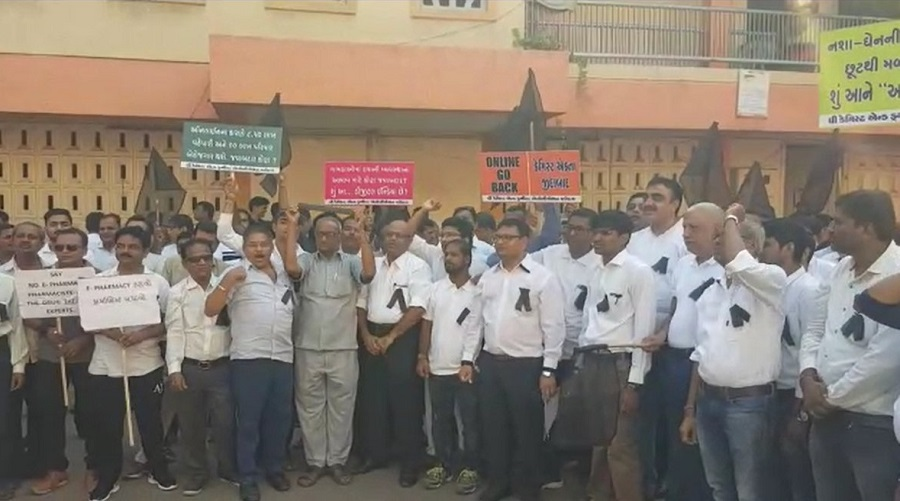 druggists protest in gujarat