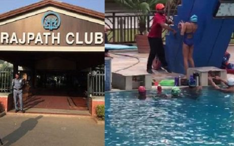 rajpath club swimming pool teacher beat girl