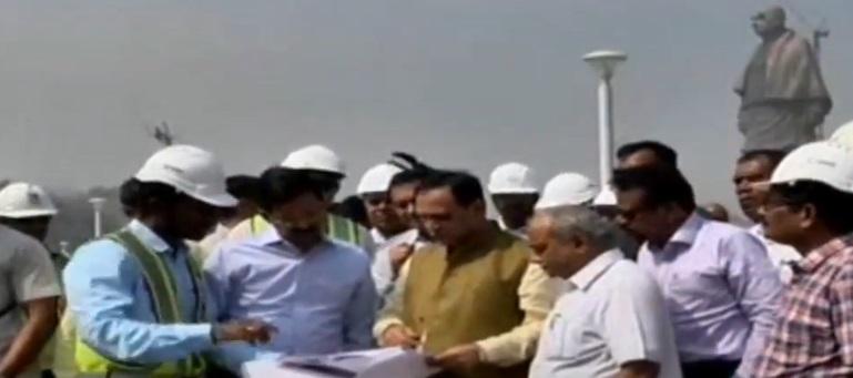 Gujarat cm visit statue of unity