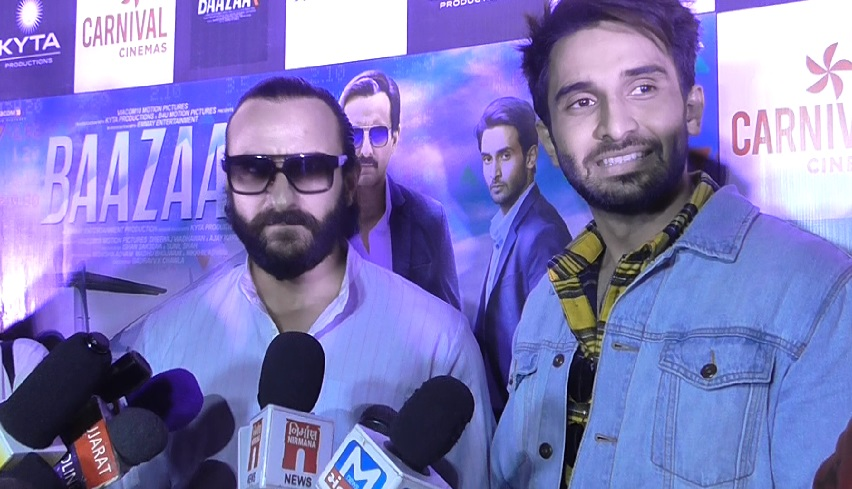 Saif Ali Khan promotes Baazar movie