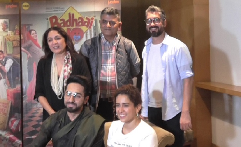 badhai ho movie promotion in ahmedabad