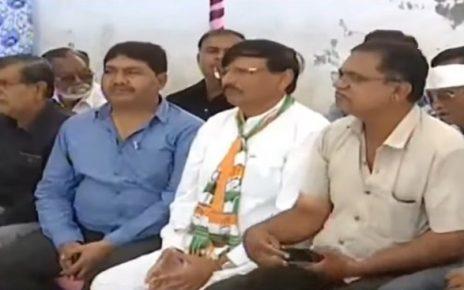 congress protest for sabariya