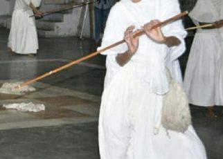 jain nun take stick