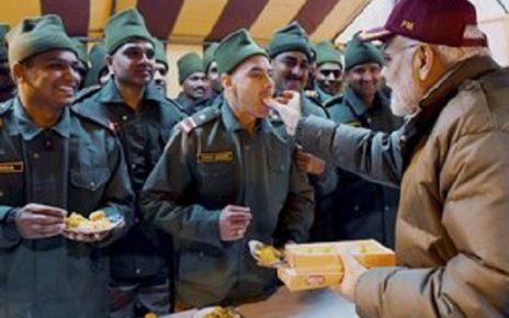 modi diwali soldiers at harshil