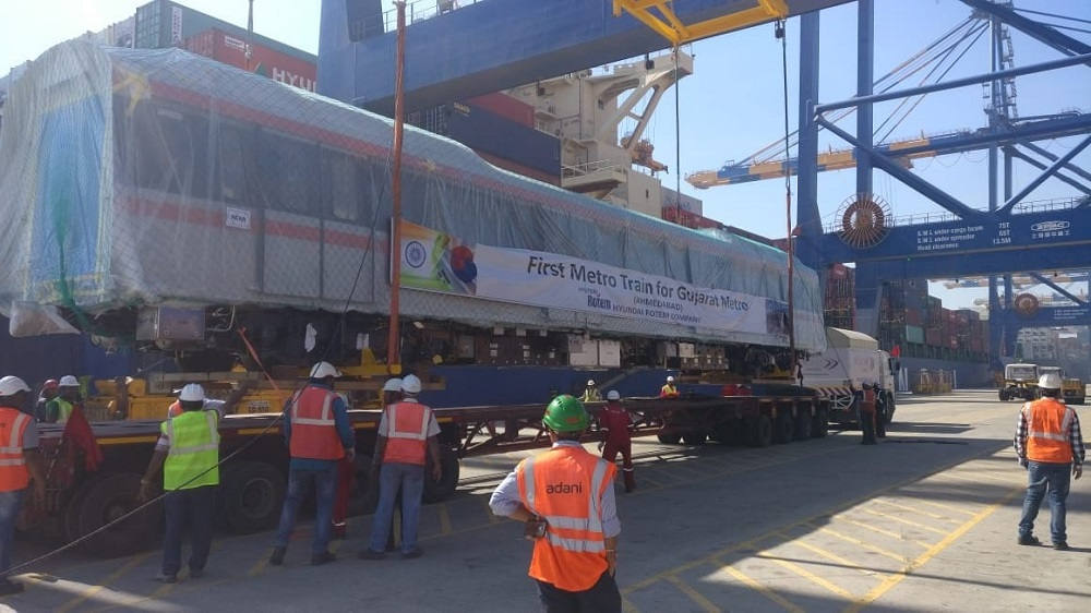 first metro coach at mundra port