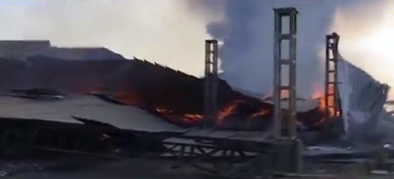 massive fire in cotton mill in rajkot