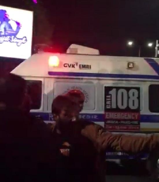 brts bus accident at shastrinagar