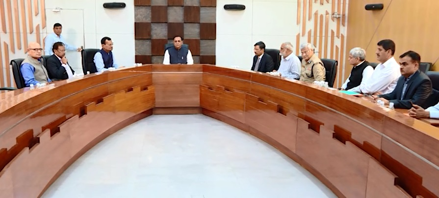 gujarat cm security meeting