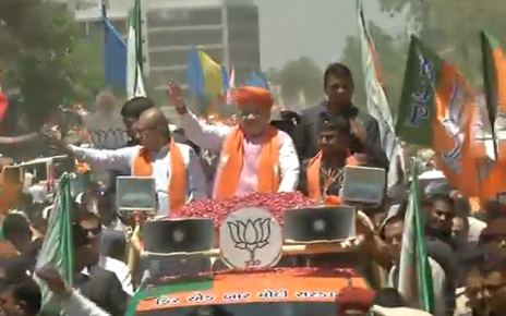 Amit Shah Road Show in Sanand