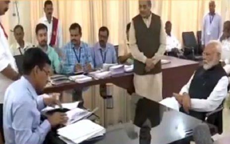 narendra modi files nomination from varanasi