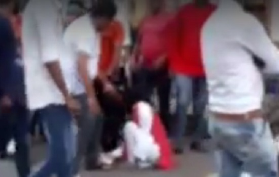 bjp coporator beating woman