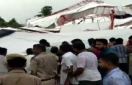pandaal collapse in rajasthan