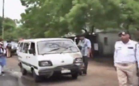 school van checking by traffic police