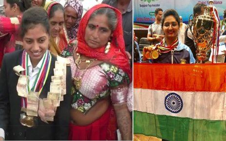 gujarat girls shine in yoga compeition