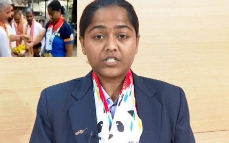 lajja goswami wins medal in china