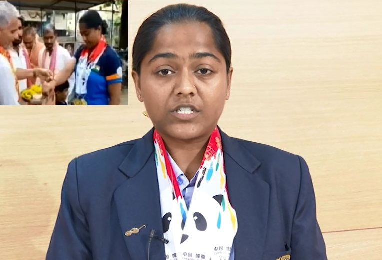 lajja goswami wins medal in china