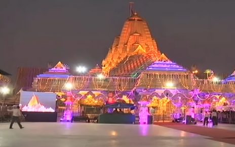ambaji temple night view