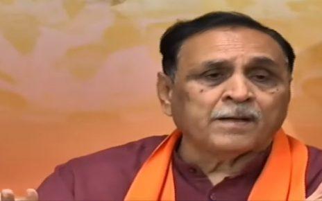 rupani blames of hurdles by congress on narmada water