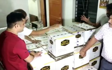 wine bottles seized in ahmedabad