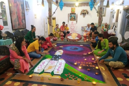 india's pride rangoli