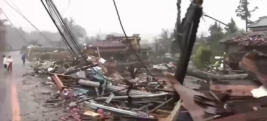 japan hit by typhoon
