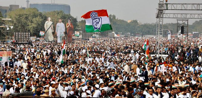 congresse rally in delhi