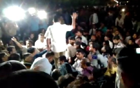 protest in gandhinagar
