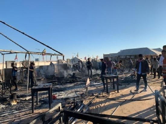 fire in tentcity