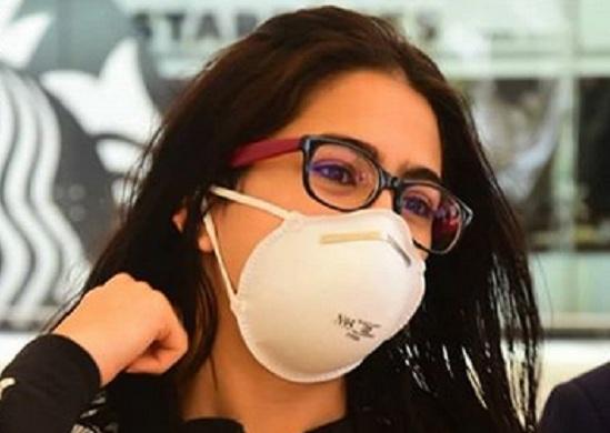 sara ali khan wearing mask