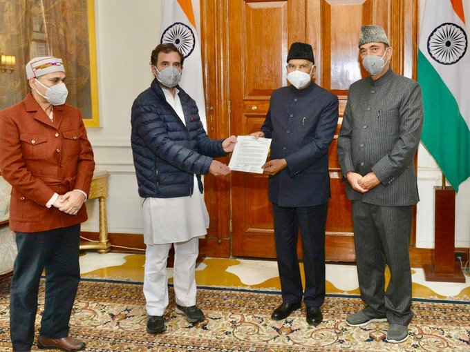 rahul gandhi with president