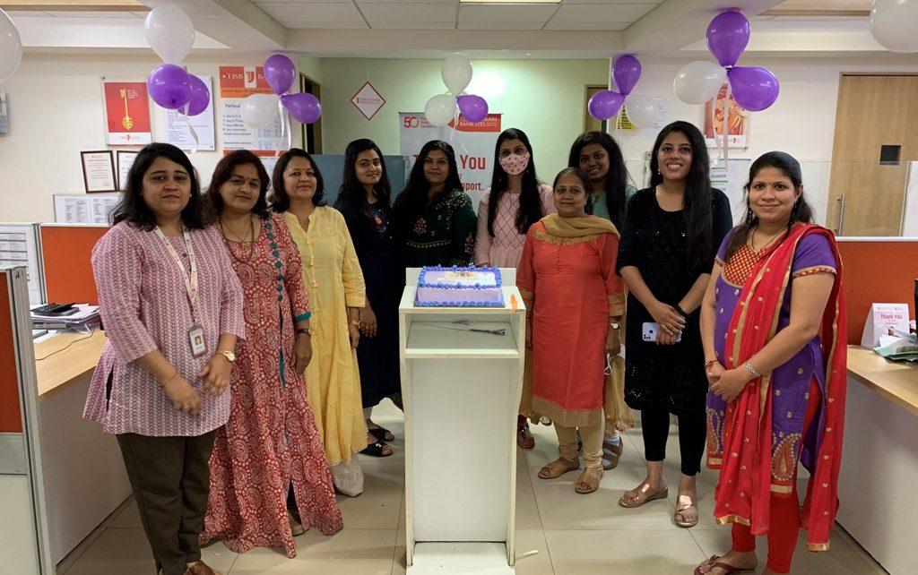 Women's Day celebrated at TJSB Sahakari Bank Ltd