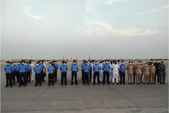 57 member naval team