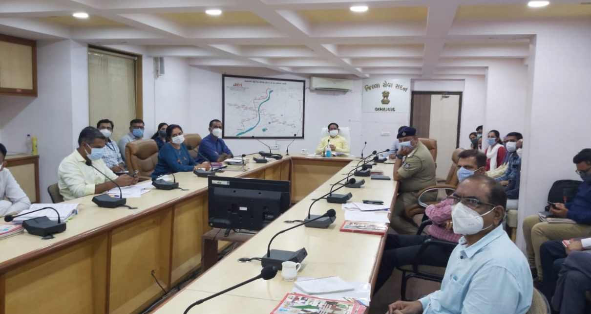 pre monsoon meeting by collector
