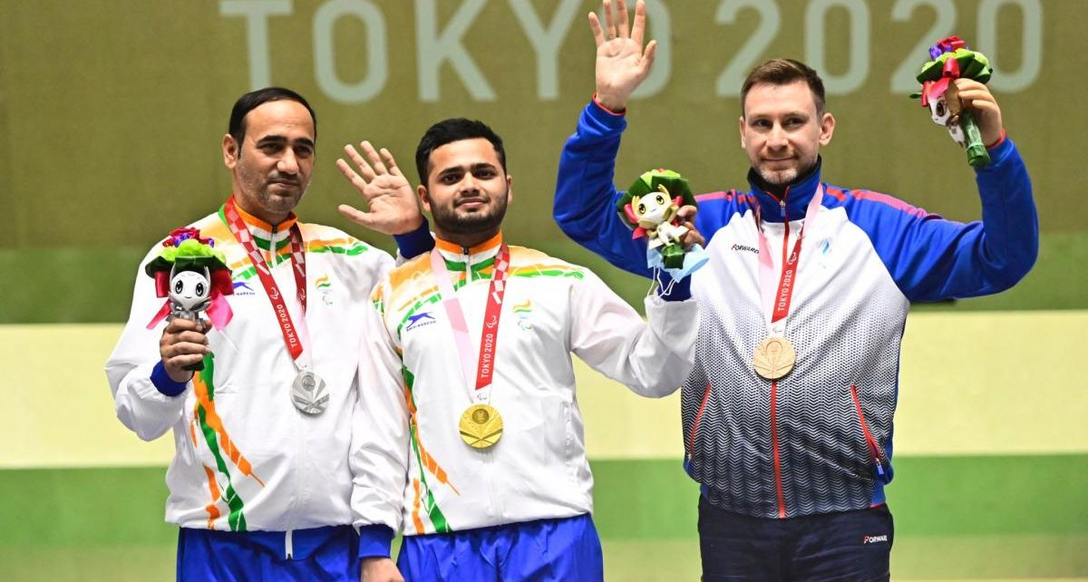 shooting gold medal